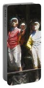 Jockeys In A Row Portable Battery Charger