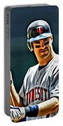 Joe Mauer Painting Portable Battery Charger