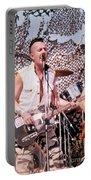 Joe Strummer Portable Battery Charger by David Plastik