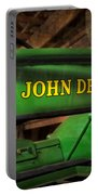 John Deere Tractor Portable Battery Charger by Susan Candelario
