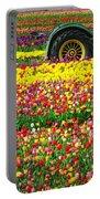 John Deere Tulips Portable Battery Charger