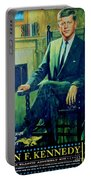John F Kennedy Portable Battery Charger by John Malone