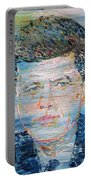 John F. Kennedy - Oil Portrait Portable Battery Charger