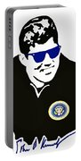 John F Kennedy Signature Wayfarer Portable Battery Charger by Jost Houk