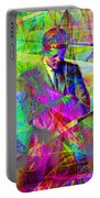 John Fitzgerald Kennedy Jfk In Abstract 20130610 Portable Battery Charger