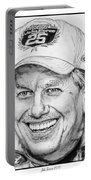 John Force In 2010 Portable Battery Charger by J McCombie