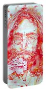 John Lennon With Rose Portable Battery Charger