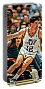 John Stockton Portable Battery Charger by Florian Rodarte