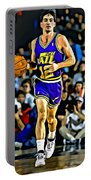 John Stockton Portrait Portable Battery Charger