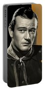 John Wayne Publicity Photo In Costume Stagecoach 1939-2013 Portable Battery Charger