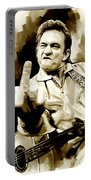 Johnny Cash Artwork 2 Portable Battery Charger