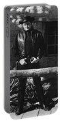 Johnny Cash Gunslinger Hitching Post Old Tucson Arizona 1971  Portable Battery Charger