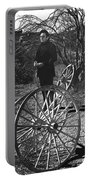 Johnny Cash  Meditating Wagon Wheel Graveyard Old Tucson Arizona 1971 Portable Battery Charger