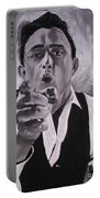Johnny Cash Portrait Portable Battery Charger