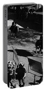 Johnny Cash Riding Horse Filming Promo Main Street Old Tucson Arizona 1971 Portable Battery Charger