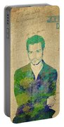 Johnny Depp Watercolor Portable Battery Charger