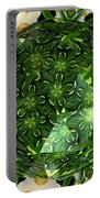 Jonquil Kaleidoscope Under Polyhedron Glass Portable Battery Charger