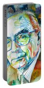 Jose Saramago Portrait Portable Battery Charger