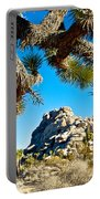 Joshua Tree And Jumbo Rocks By Quail Springs In Joshua Tree Np-ca Portable Battery Charger