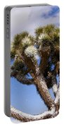 Joshua Tree In Snow Portable Battery Charger