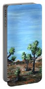 Joshua Trees Portable Battery Charger by Anastasiya Malakhova