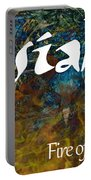 Josiah - Fire Of The Lord Portable Battery Charger by Christopher