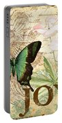 Joy And Butterflies Portable Battery Charger