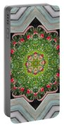 Jubilant Mandevilla Kaleidoscope Pattern Portable Battery Charger