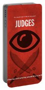 Judges Books Of The Bible Series Old Testament Minimal Poster Art Number 7 Portable Battery Charger