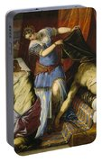 Judith And Holofernes Portable Battery Charger