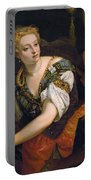 Judith With The Head Of Holofernes Portable Battery Charger