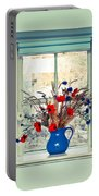 Jug Of Flowers Portable Battery Charger