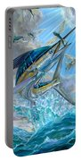 Jumping White Marlin And Flying Fish Portable Battery Charger