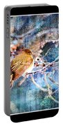 Junco On Icy Branch - Digital Paint II Portable Battery Charger