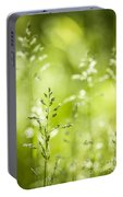 June Green Grass Flowering Portable Battery Charger