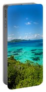 Jungle And Turquoise Water Portable Battery Charger