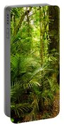 Jungle Scene Portable Battery Charger by Les Cunliffe