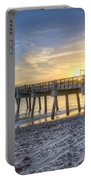 Juno Beach Pier At Dawn Portable Battery Charger