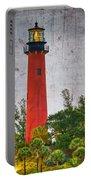 Jupiter Lighthouse Portable Battery Charger by Debra and Dave Vanderlaan
