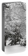 Just After A Snowfall Portable Battery Charger by Mary Machare