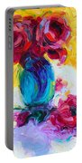 Just Past Bloom - Roses Still Life Portable Battery Charger