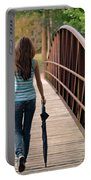 Just Walk Away Renee Portable Battery Charger by Laura Fasulo