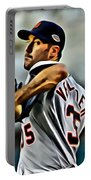 Justin Verlander Painting Portable Battery Charger