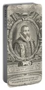 Justus Lipsius, Belgian Scholar Portable Battery Charger by Photo Researchers
