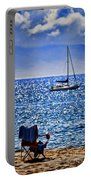 Kaana Pali Beach In Maui Portable Battery Charger by David Smith