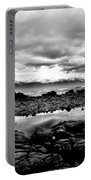 Kaikoura Coast New Zealand In Black And White Portable Battery Charger