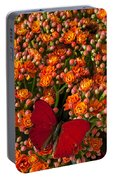 Kalanchoe Plant With Butterfly Portable Battery Charger