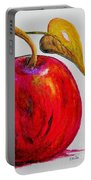 Kaleidoscope Apple -- Or -- Apple For The Teacher  Portable Battery Charger
