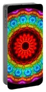 Kaleidoscope Neon Artwork Portable Battery Charger