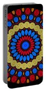 Kaleidoscope Of Colorful Embroidery Portable Battery Charger
